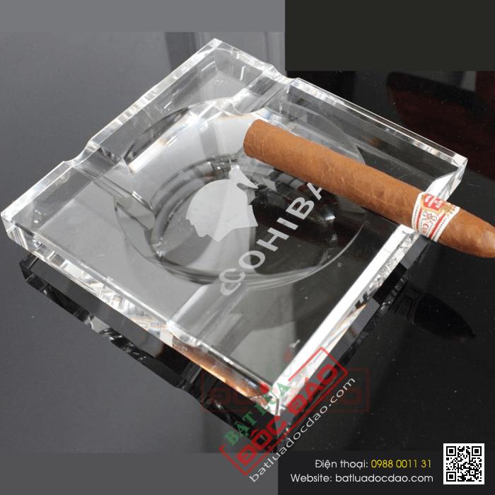 Gạt tàn Cigar Cohiba loại 4 điếu pha lê cao cấp - Mã SP: GT004