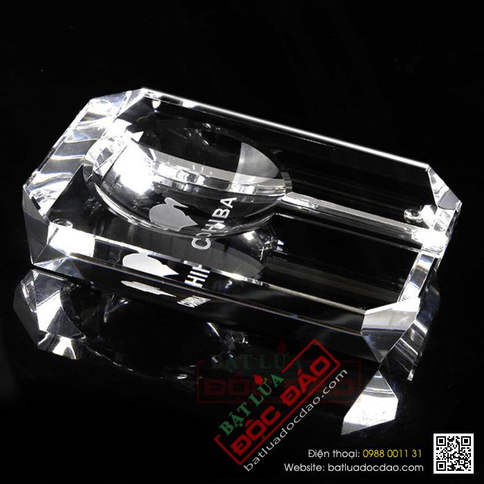 Gạt tàn Cigar (xì gà) Cohiba chất liệu pha lê cao cấp - Mã SP: GT006