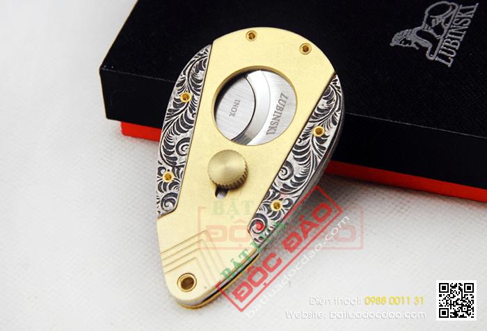 Dao cắt Cigar (xì gà) Lubinski chất liệu thép không gỉ - Mã SP: J05A