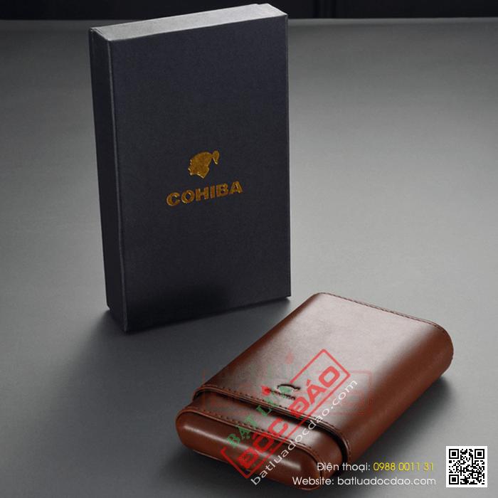 Bao da đựng Cigar Cohiba chính hãng loại 4 điếu - Mã SP: CC4001