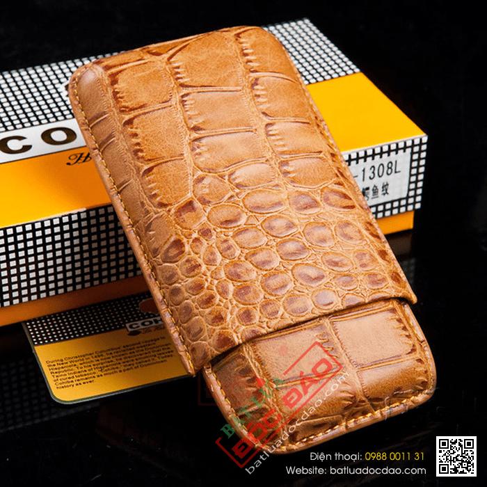 Bao da cigar, bao da Cohiba Y1328L loại 3 điếu (phụ kiện cigar)
