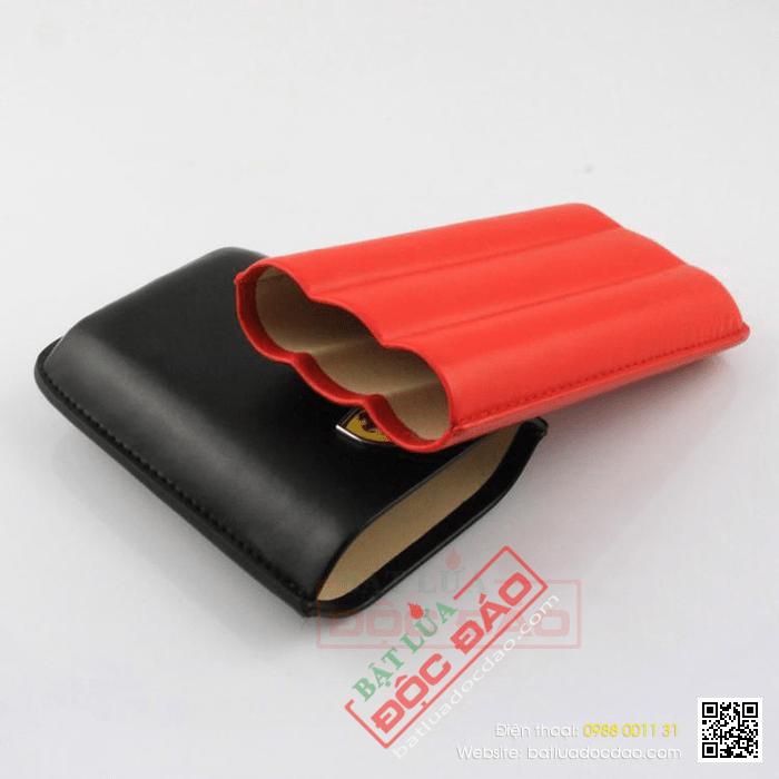 Bao da đựng Cigar (xì gà) Cohiba chính hãng loại 3 điếu - Mã SP: RAFP303