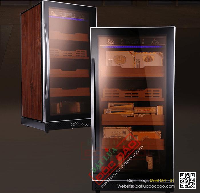 Tủ điện, tủ xì gà, tủ bảo quản xì gà Lubinki 4 tầng RA666 bán chạy nhất
