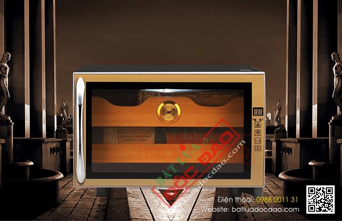 Tủ bảo quản Cigar cắm điện 2 tầng cao cấp - Mã SP: H727
