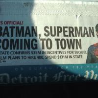 'Batman vs. Superman' to shoot in Detroit, Michigan early next year