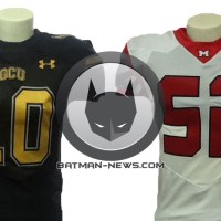 Exclusive: Check out the Gotham and Metropolis football jerseys from 'Batman vs. Superman' (photos)