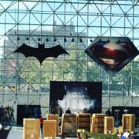 'Batman v Superman' banners and props go up ahead of NYCC tomorrow