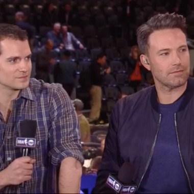 Watch Ben Affleck and Henry Cavill talk 'Batman v Superman' at the NBA All-Star game