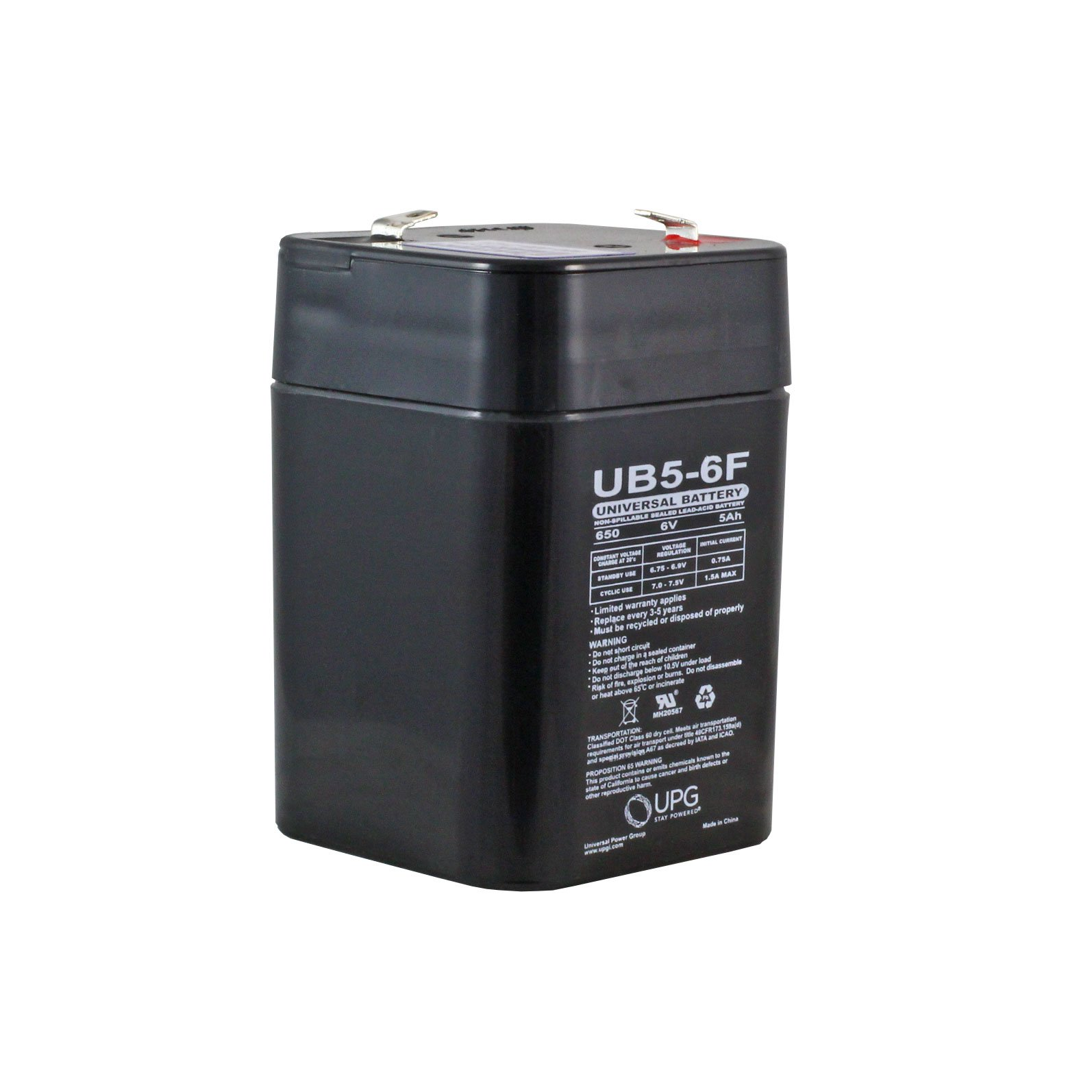 Batterie Aa 6 Volt 5 Ah Sealed Lead Acid Rechargeable Battery With F1