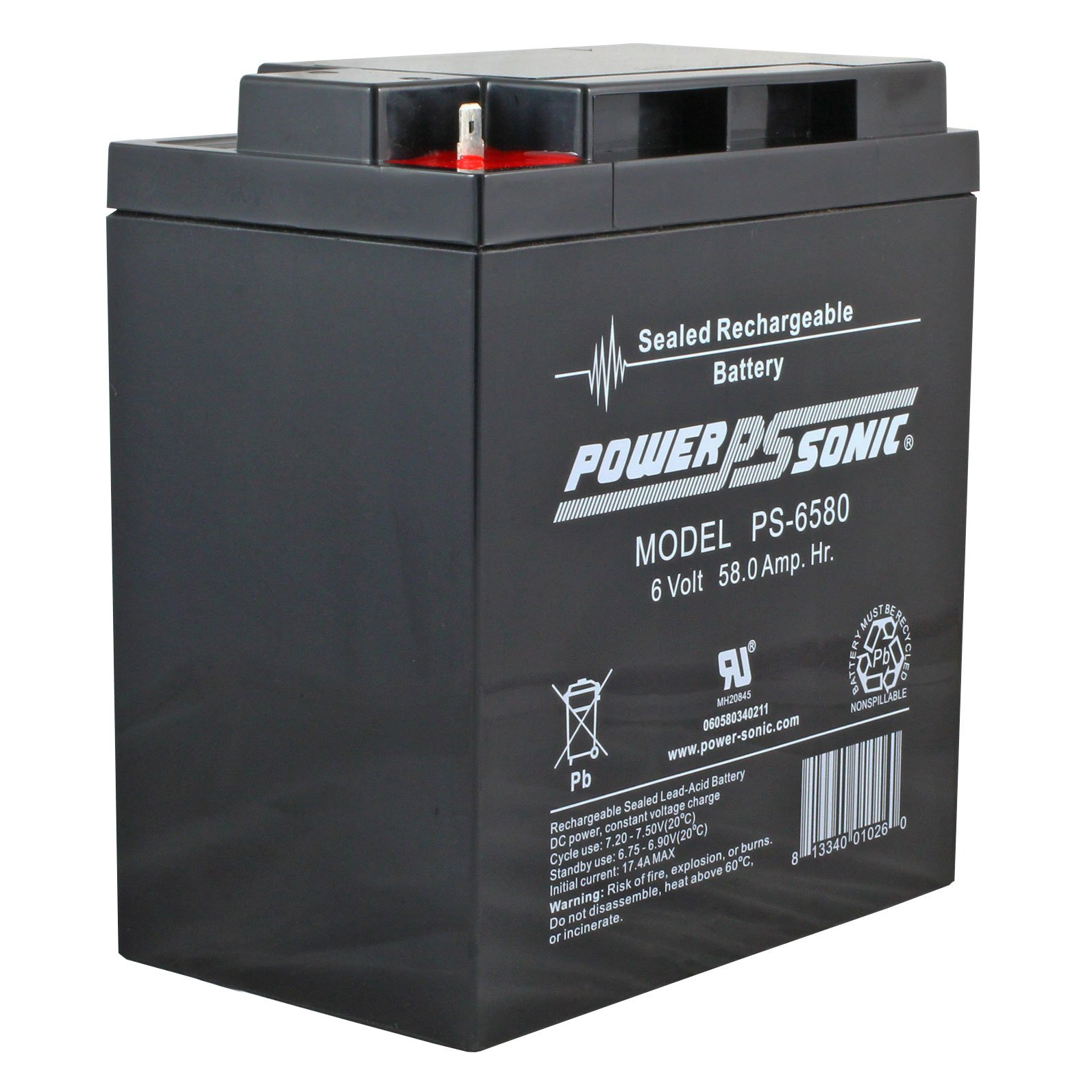 Batterie Aa 6 Volt 58 Ah Sealed Lead Acid Rechargeable Battery Free