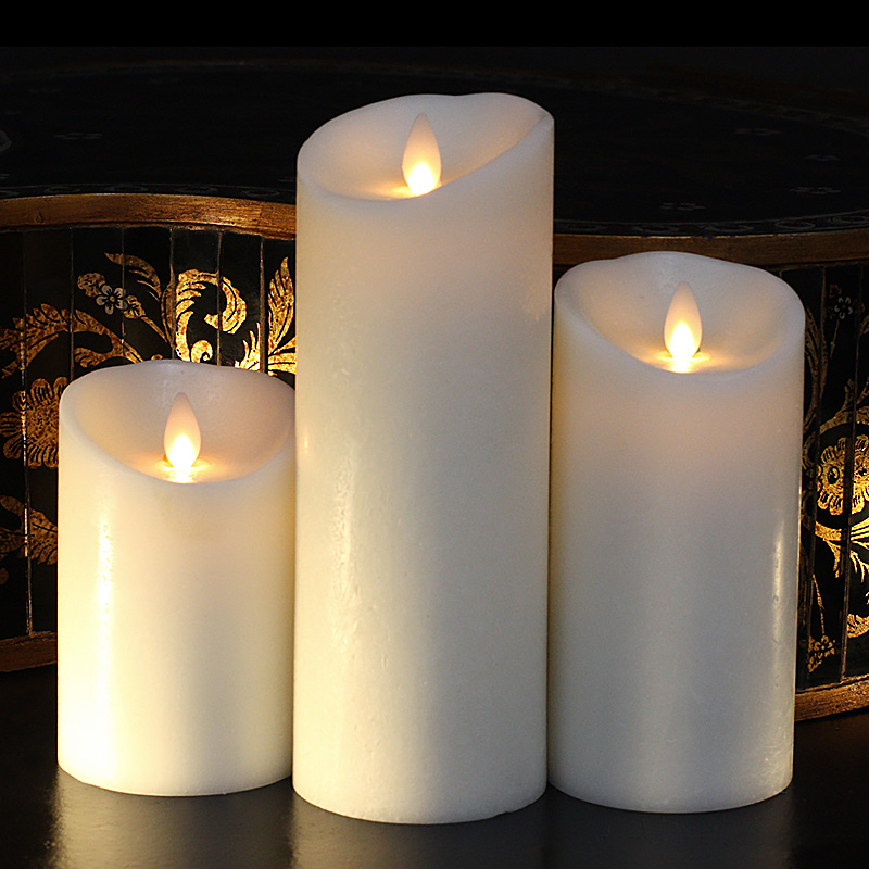 Battery Operated Wall Sconces 3 Inch Diameter Moving Flame Ivory 4 Inch Flameless Candle