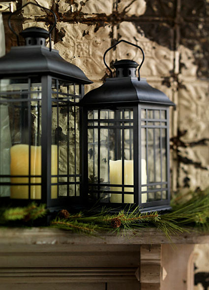 Battery Operated Wall Sconces Set Of 3 Rubbed Oil Bronze Candle Lanterns - 14, 17 And 20