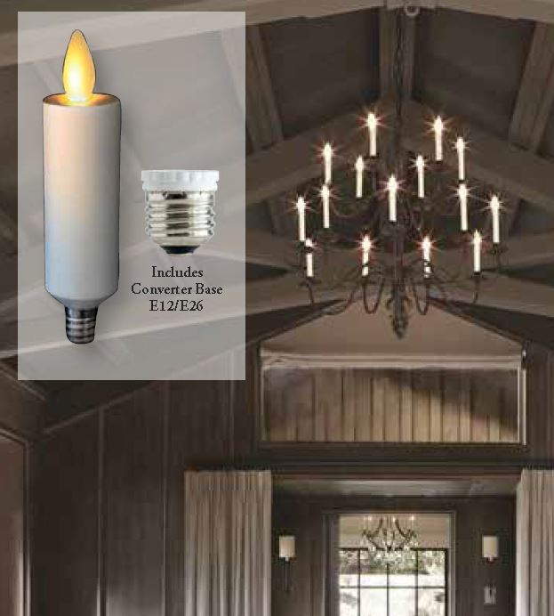 Battery Operated Wall Sconces Moving Flame Chandelier Bulb For Candelabra Base Or E26