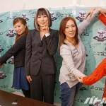 4団体の代表者と紫雷美央で「MIO」