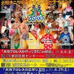 大阪プロレス2015年6〜8月の大会ポスター