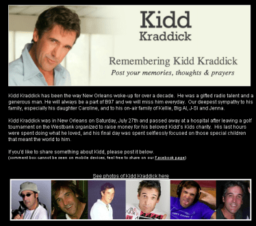 Radio personalities remember #KiddKraddick #Louisiana #B97