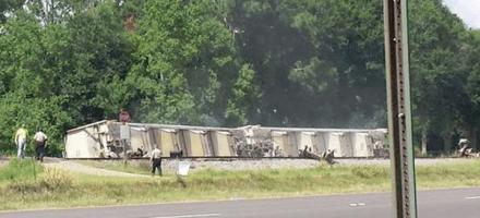 St. Landry Parish Train Derailment | 101 Homes Evacuated | 30 checked into shelters | 4 Seeking Shelter #Louisiana