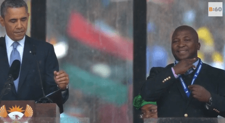 Sign Language Interpreter at Nelson Mandela Memorial Called a 'Fake'