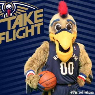 New Orleans Pelicans reveal new look for mascot 'Pierre'