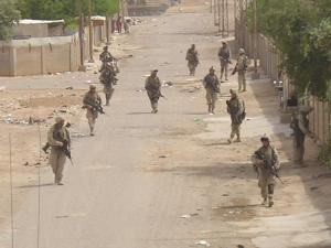 Marines from 3rd Battalion, 25th Marines, a Reserve unit from Oak Brook, Ohio, on patrol in Al Anbar in 2005. The unit lost 46 Marines and two Navy corpsmen during its 7-month deployment to Iraq.