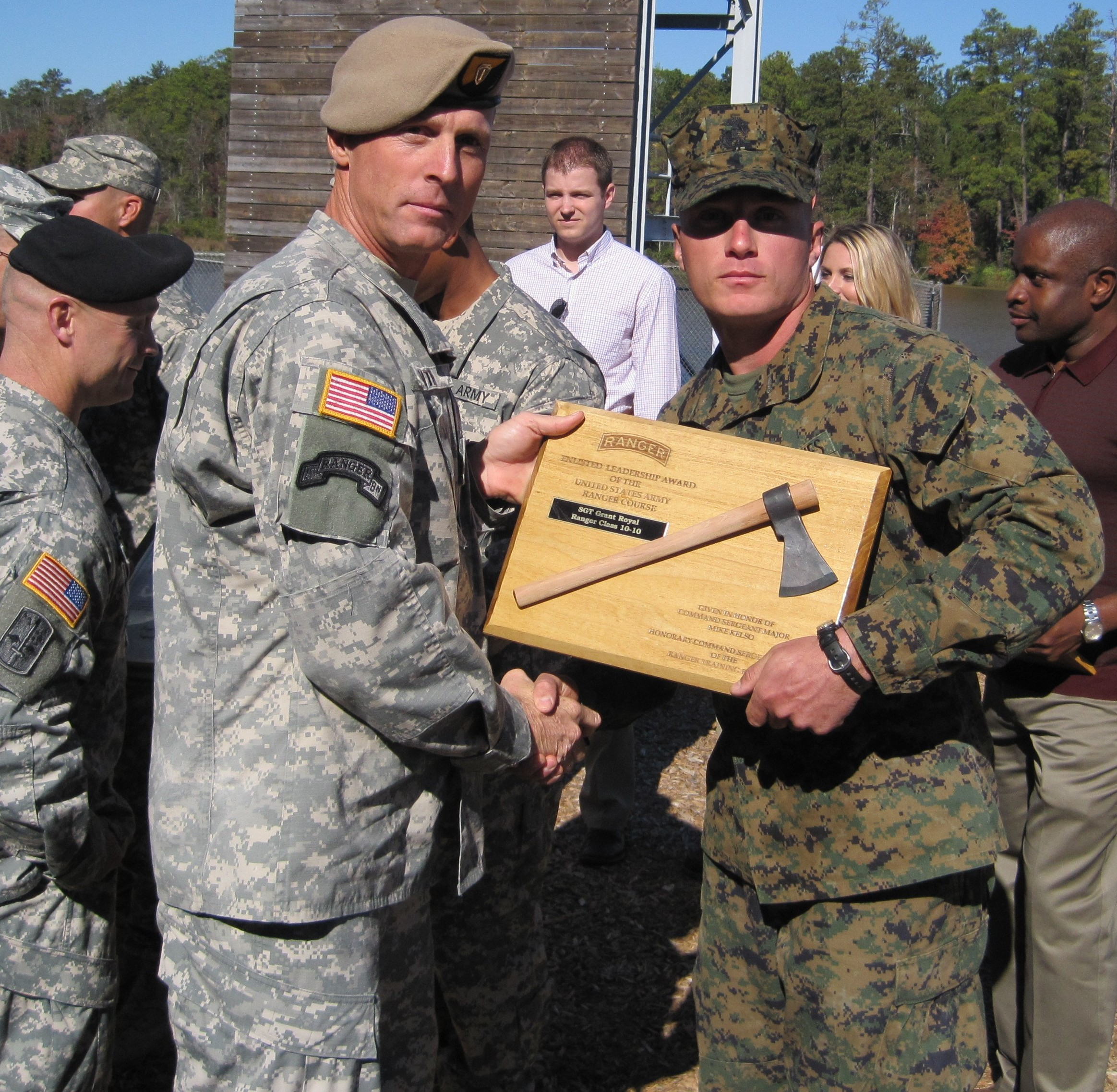Marine is best enlisted leader — at Army Ranger School