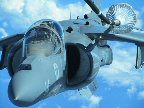 An AV-8B Harrier jet