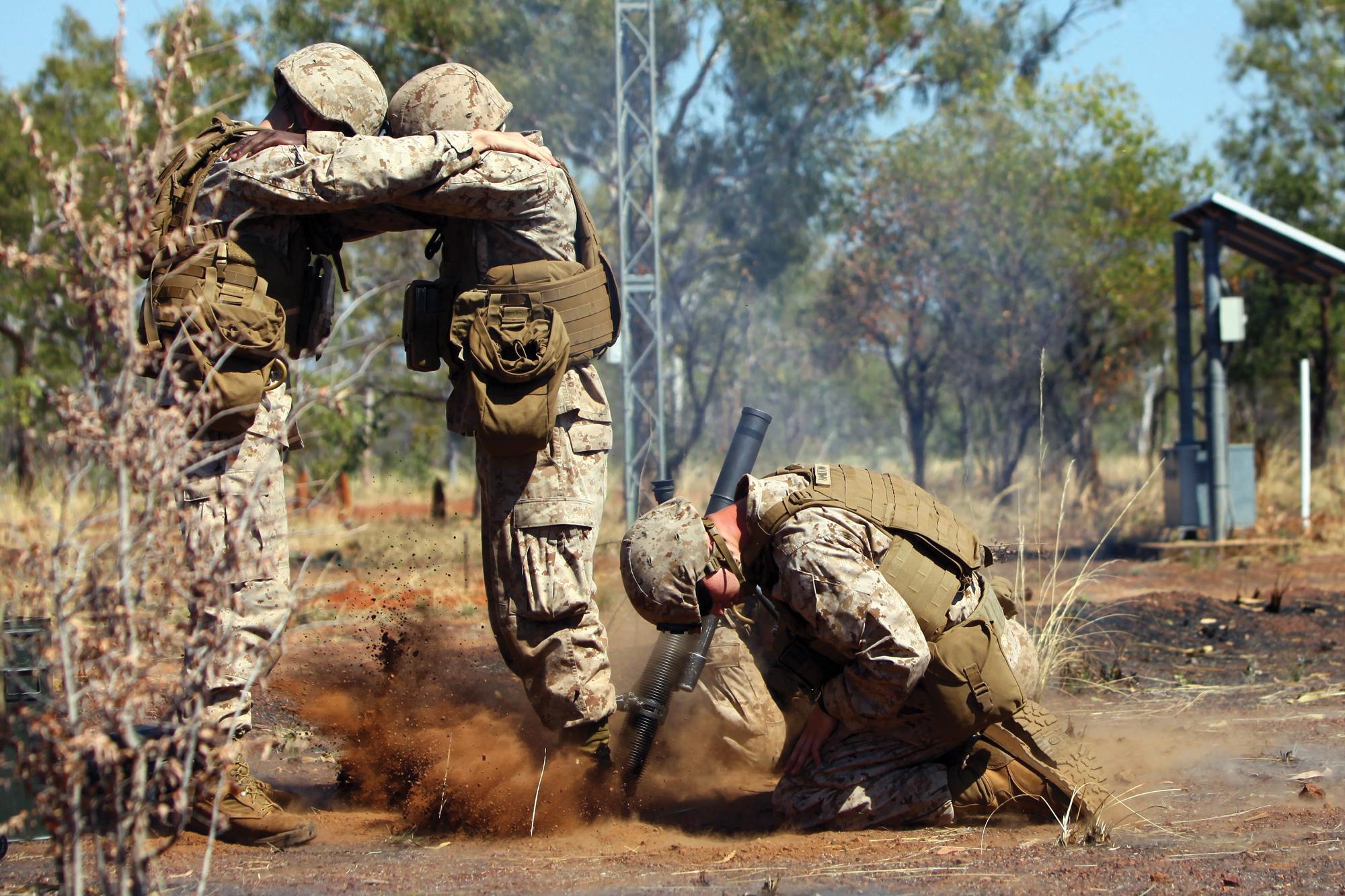 Funny Usmc Mortars : 'fun and frisky down under