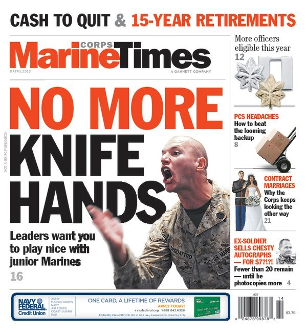 Behind the cover: No more knife hands