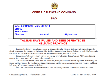 215th Corps release