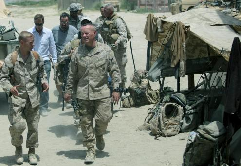 Maj. Gen. Larry Nicholson, pictured here as a one-star officer in Afghanistan in 2009, told Marine Corps Times that Marines fear change. (Photo by Staff Sgt. William Greeson/ Marine Corps)