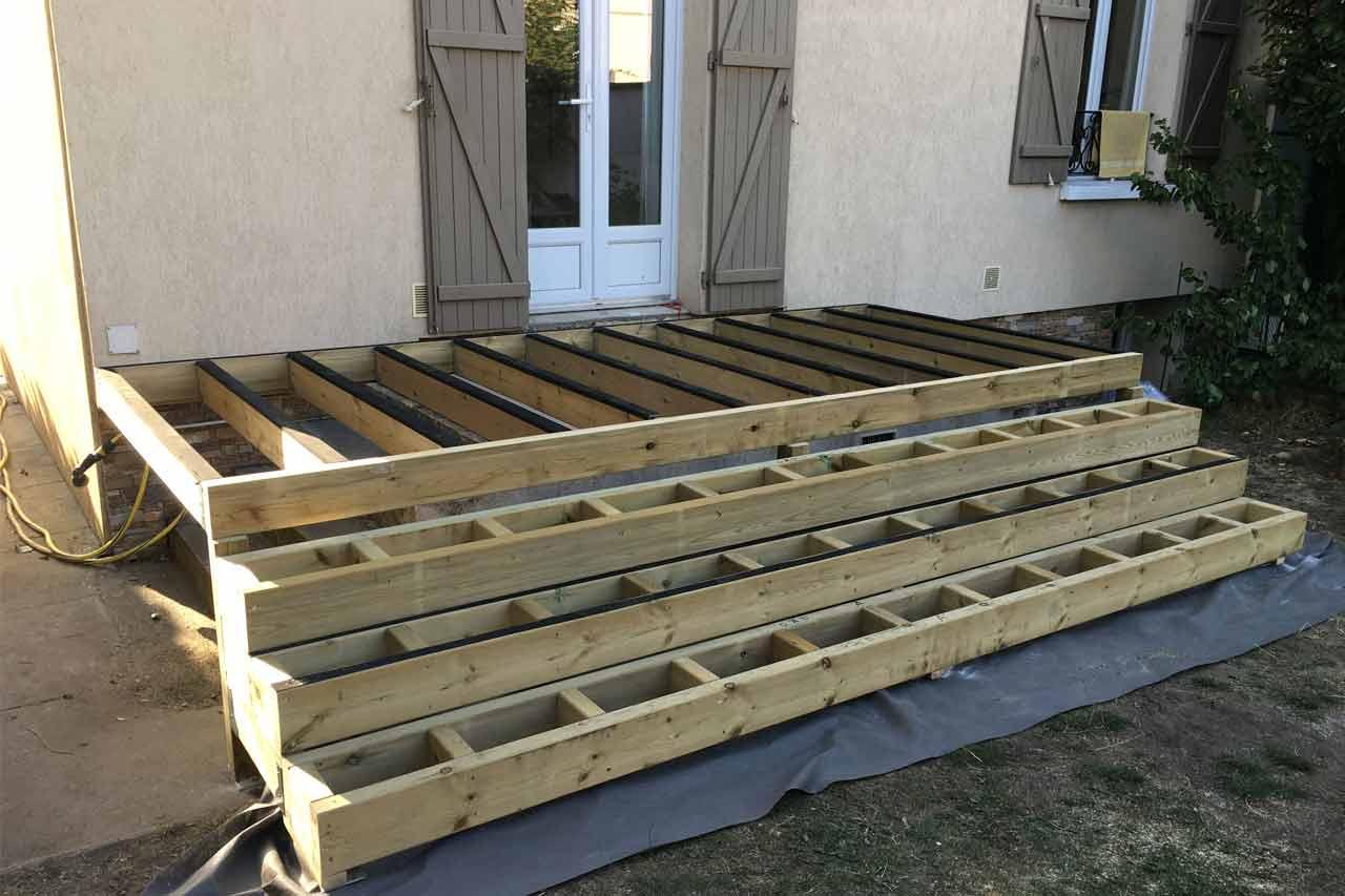 Comment Faire Une Terrasse En Bois Faire Une Structure Pour  ~ Construction D'une Terrasse En Bois