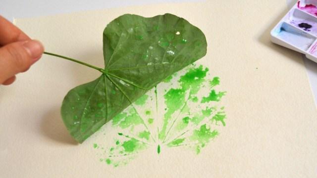 Artes com folhas