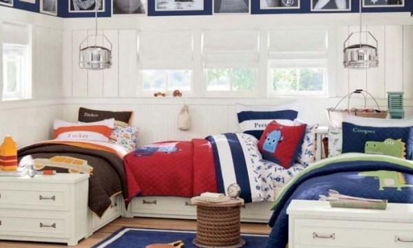 10 ideias para um quarto para três filhos