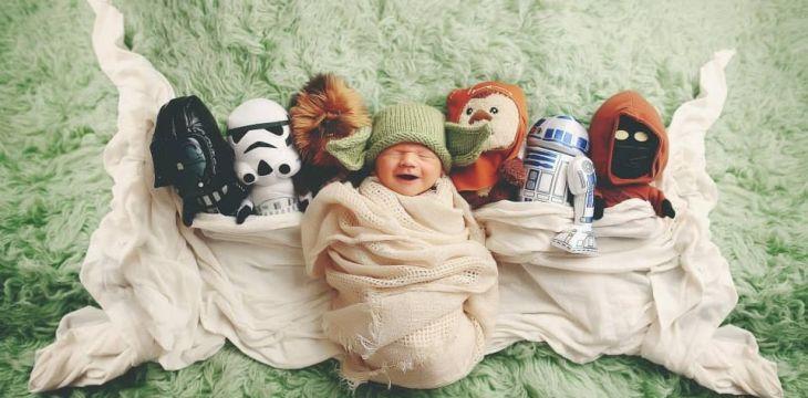 Ensaio newborn Star Wars – 20 fotos fofas de bebês