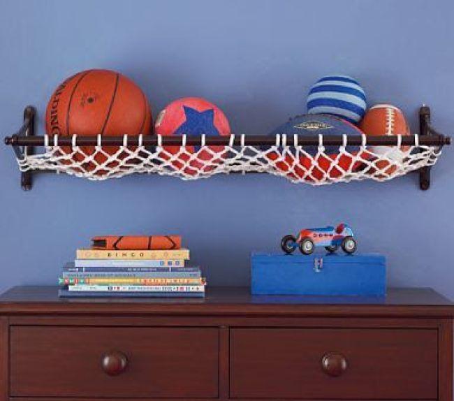 como organizar as bolas com redes
