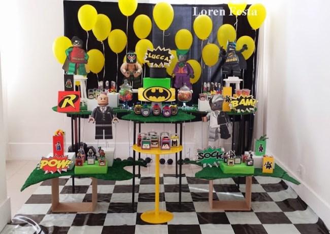 decoração festa lego batman