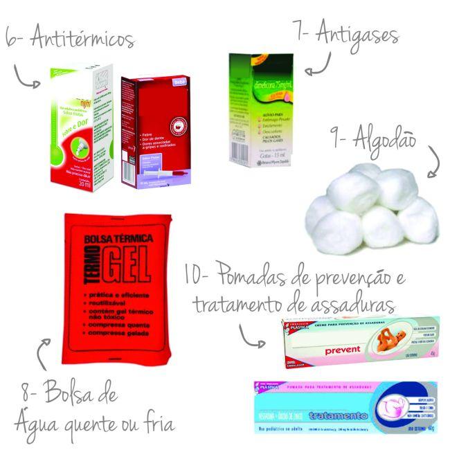 produtos para a farmacinha do bebê
