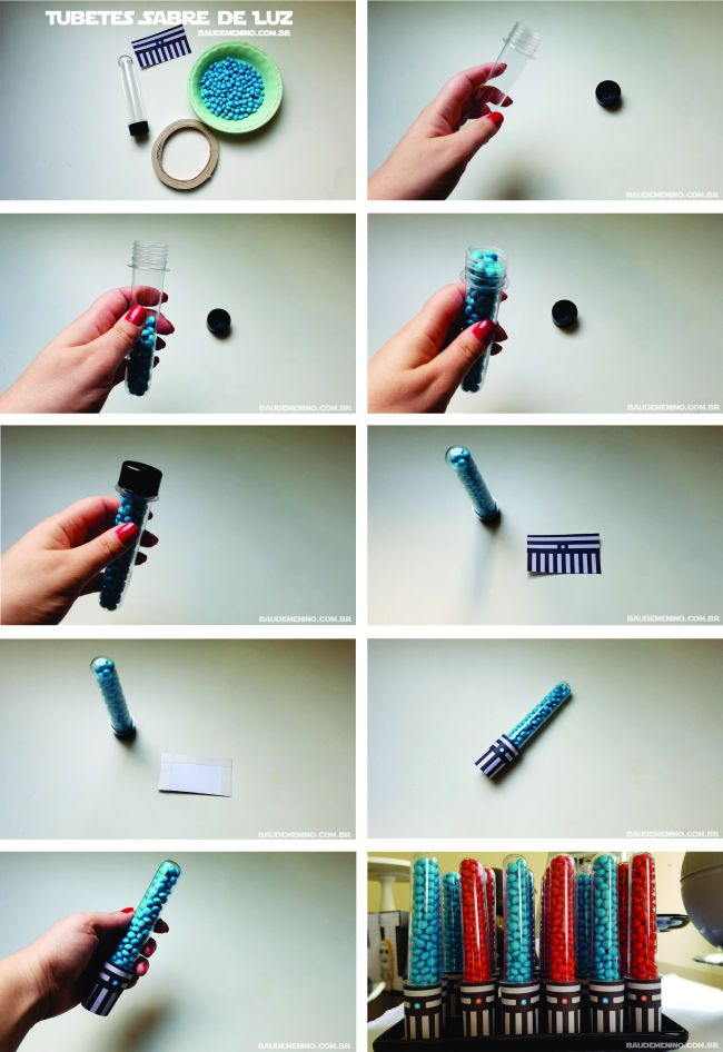 como fazer tubete sabre de luz