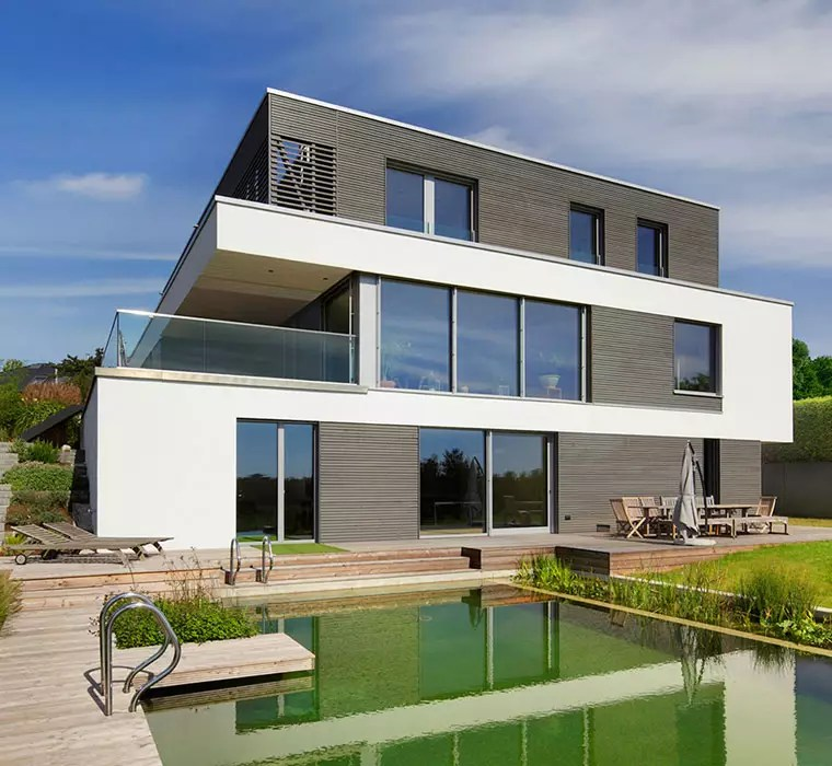 Bungalow Mit Integrierter Doppelgarage Modern Houses & Contemporary House Desings | Baufritz Uk
