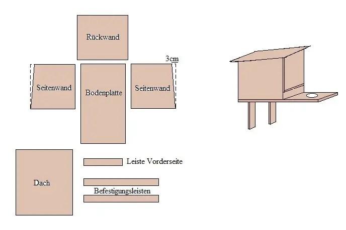 pin bauanleitung bauplan vogelhaus. Black Bedroom Furniture Sets. Home Design Ideas