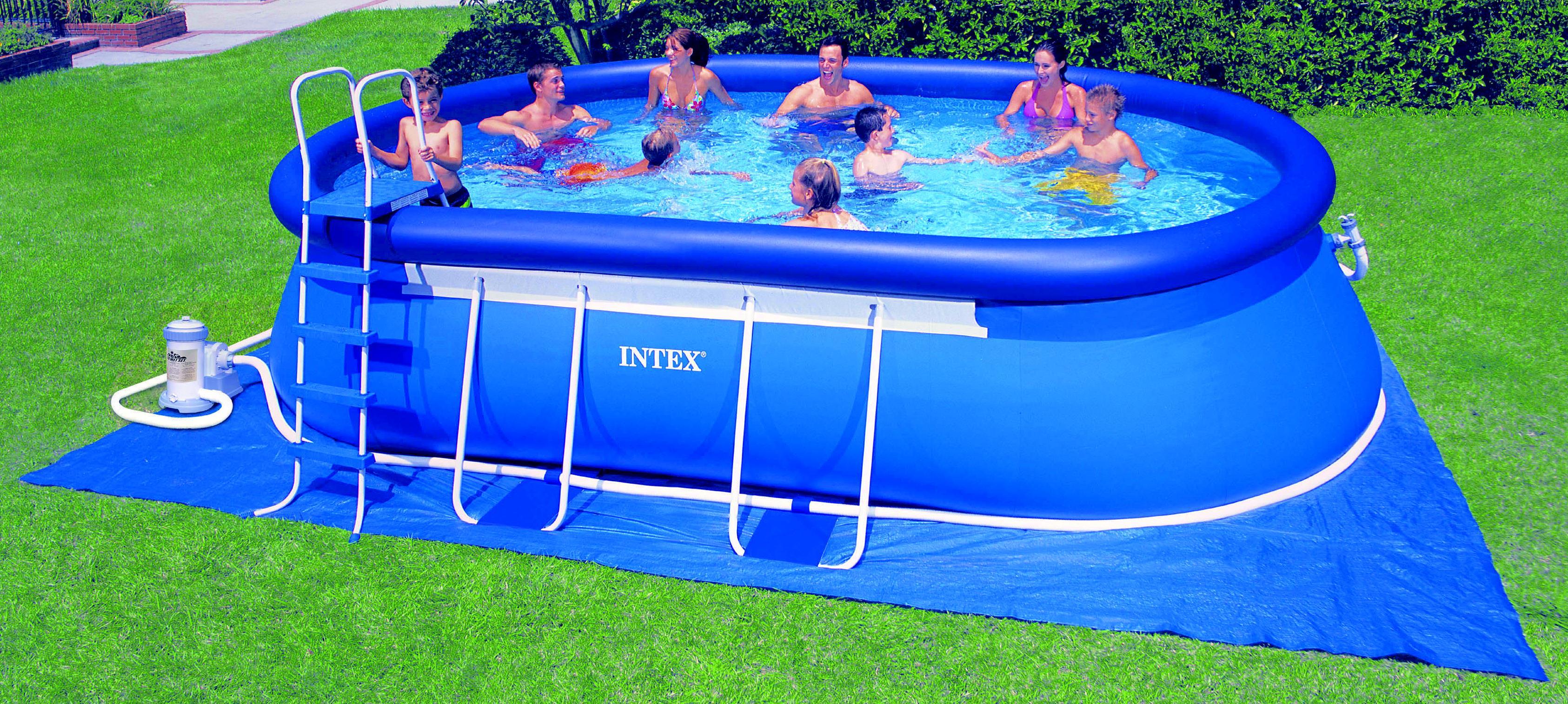 Frame Pool Set Ultra Quadra Ii Mit Salzwassersystem Frame Pool Set Quotovalo Quot Von Intex Bei Bavchem Shop De