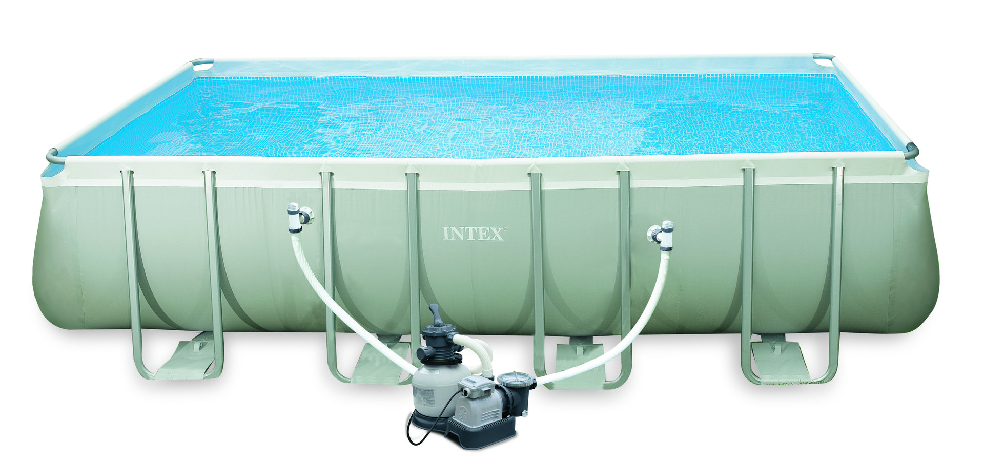 Frame Pool Set Ultra Quadra Ii Mit Salzwassersystem Quotultra Quadra Quot Frame Pool Set Von Intex Bei Bavchem