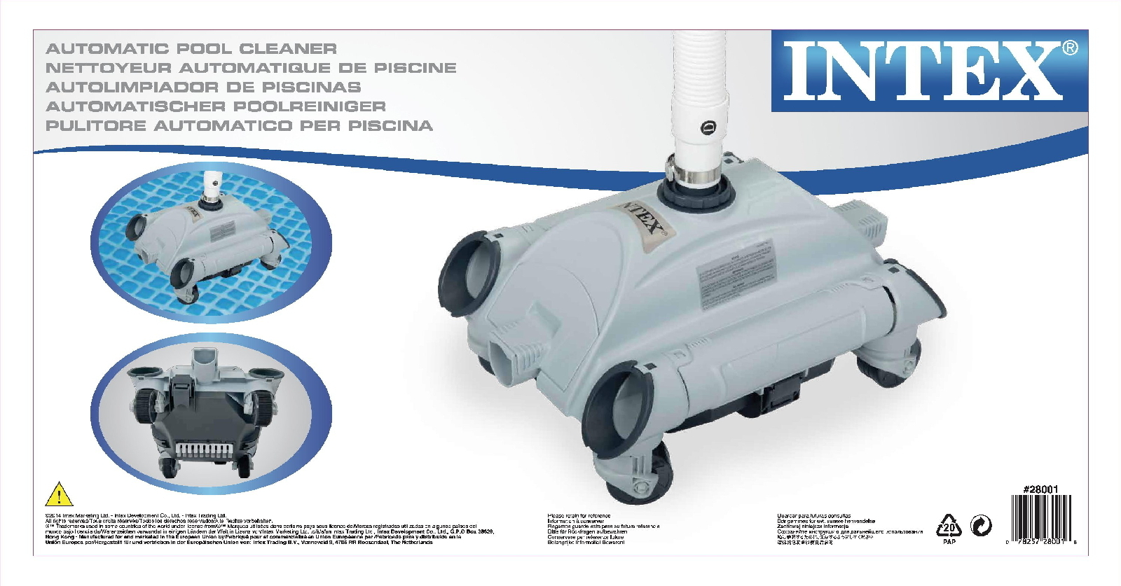 Intex Poolzubehör Bodensauger Bodenreiniger Quotauto Pool Cleaner Quot Nur Für Intex Pool