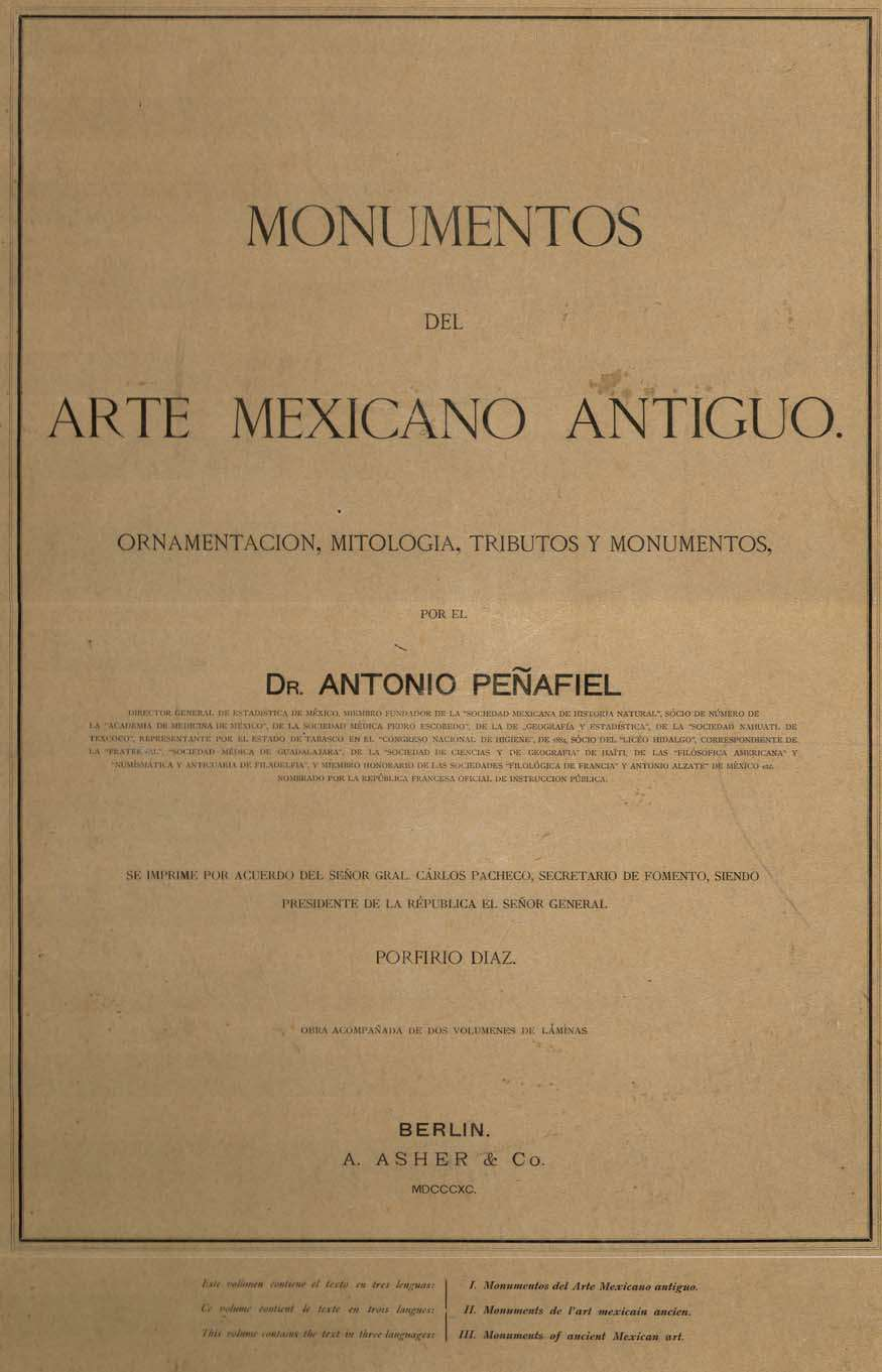 Arte De Mexico Antiguo Monumentos Del Arte Mexicano Antiguo Text Volume And 2 Folios Of