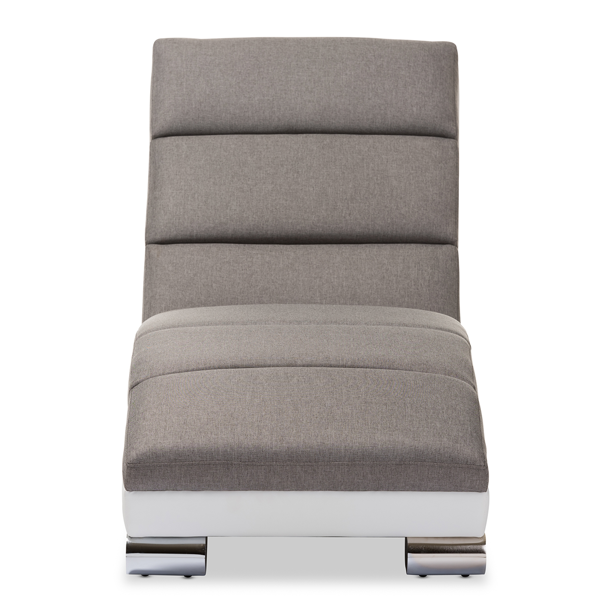 Leather Upholstered Lounge Baxton Studio Percy Modern And Contemporary Grey Fabric