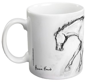 Horse at the run gift mug by Diana Hand
