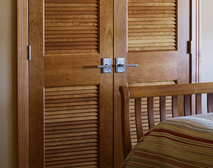 Mirrored Pocket Door Interior Doors | Bayer Built Woodworks