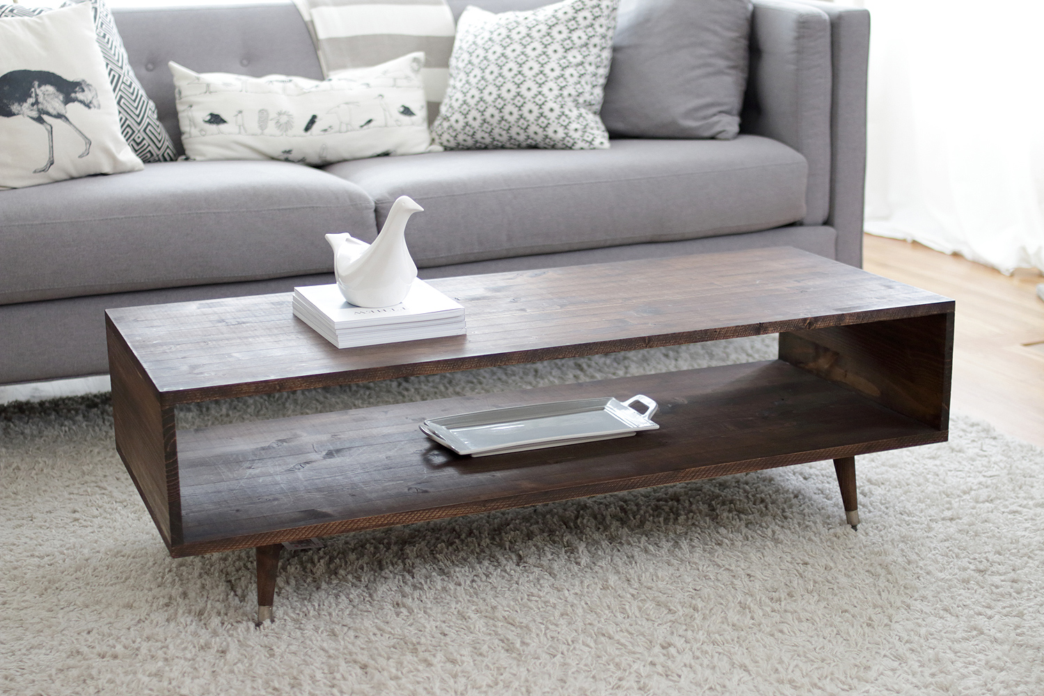 Build Your Own End Table Build Your Own Mid Century Modern Coffee Table For 60