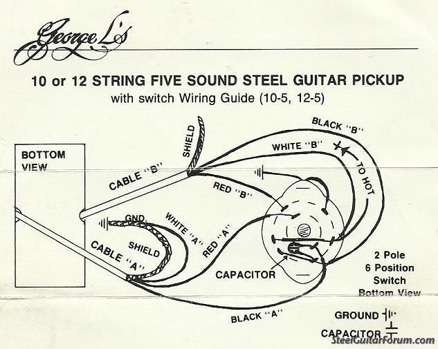 steel guitar pickup wiring diagrams