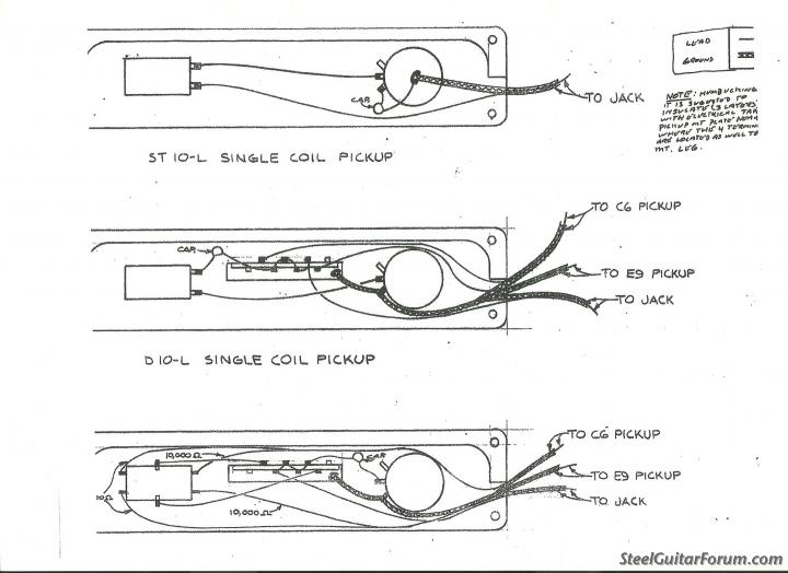 Steel Guitar Pickup Wiring Diagrams Electronic Schematics collections